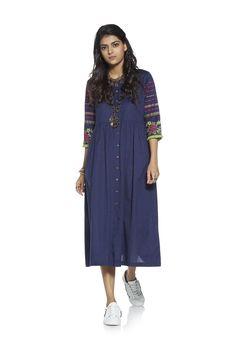 e3350e63e312ab Buy Bombay Paisley by Westside Navy Maxi Embroidered Dress for Women Online    Tata CLiQ Navy