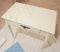 How To Paint & Stencil Furniture