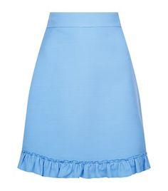GUCCI Ruffled Silk-Wool Skirt. #gucci #cloth #