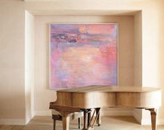 Handmade Large Contemporary Art Canvas Painting di CelineZiangArt