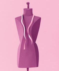 Dress form made of paper by Matthew Sporzynski for Real Simple