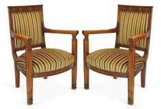 French Directoire-Style Armchairs, Pair