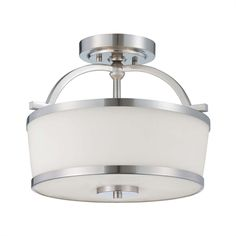 Savoy House 6-4382-2 Midtown Vogue Hagen 2-Light Semi Flush Ceiling Light