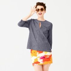 Oh, Snap! Popover Top in Chambray
