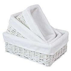 JVL white baskets