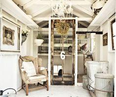 vintage look chicken coop & garden shed