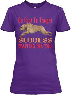Runner Dog Purple Women's T-Shirt Front