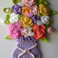 crochet wall hanging flowers see more ideas lomets.com