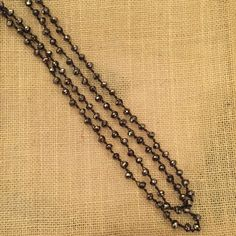 Betsy Pittard Bronze Knotted Long Necklace
