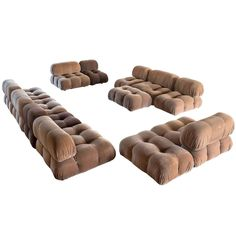'Camaleonda' Modular Sofa by Mario Bellini for C&B, Italia, 1970s | From a unique collection of antique and modern living room sets at https://www.1stdibs.com/furniture/seating/living-room-sets/