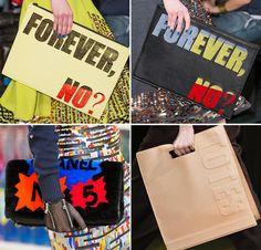 Fall 2014 Designer Handbags with Messages  #bags #handbags