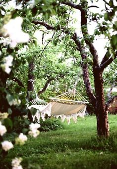 A hammock is a must for a relaxing outdoor retreat...