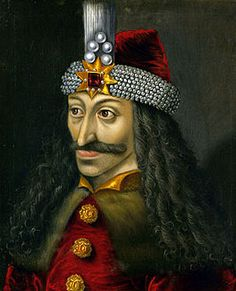 """Vlad Tepes. Ook genoemd Vlad Dracula. Liet als Roemeense beschermer tegen de Turken 23.000 Turkse soldaten """"Spietsen'. Vandaar zijn bijnaam: 'Vlad de Spietser'"""