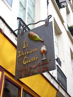 La dernière goutte, wine shop 6 Rue de Bourbon le Château, Paris VI
