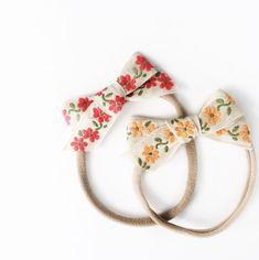 Sweet Handmade Hair Bows | ByLunaDeMama on Etsy