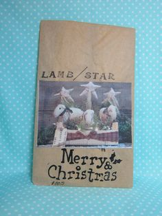 Primitive Christmas Pattern. Lamb and Star. Cheapest Pattern and Shipping.