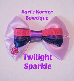 My Little Pony Inspired Bow  Twilight by KarisKornerBowtique