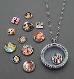 Floating Photo Charms Variety Pack Kit Squares Circles & Jumbo Charms w/ Locket Special Promo Price!