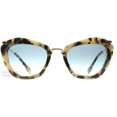 Miu Miu 10NS Noir Solbriller : 10NS Noir Lys Havana 10NS : DK (3.443.215 IDR) ❤ liked on Polyvore featuring accessories, eyewear, sunglasses, glasses, miu miu, miu miu sunglasses, miu miu eyewear and miu miu glasses