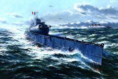 Submarino Surcouf 1934, Francia, desaparecido en 1942 en el Golfo de Panamá
