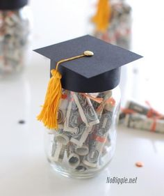 With a little crafting know-how, it's easy to transform that mason jar you have sitting around into a fun graduation gift.