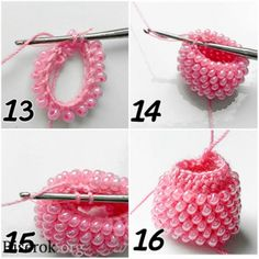 tubular bead crochet – sections of plain crochet - Jewelry Ideas Bead Crochet Patterns, Bead Crochet Rope, Beading Patterns, Beaded Crochet, Bracelet Patterns, Crochet Crafts, Bead Crafts, Jewelry Crafts, Diy Crafts