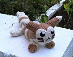 Punch the Crochet Furret Plush by ArtisansShadow