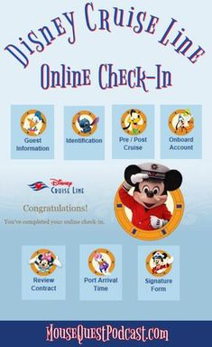 Disney Cruise Line embarkation day can be hectic if you don't do a little pre-planning. The online check-in process will save at least an hour at the port. Disney Fantasy Cruise, Disney Cruise Door, Disney Dream Cruise, Disney Cruise Ships, Disney Vacations, Disney Wonder Cruise, Packing List For Cruise, Cruise Tips, Cruise Travel
