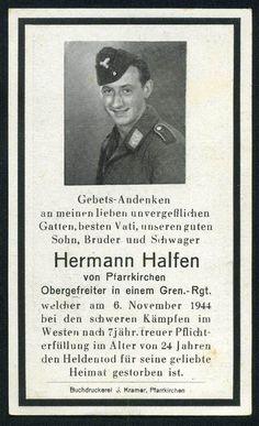 orig. WK2 STERBEBILD - DEATH CARD - SCHLACHT IM HÜRTGENWALD Hürtgen Forest 1944