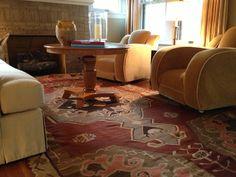 living room with kilim