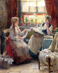"""The Lacemakers"" by Edward Antoon Portielje"