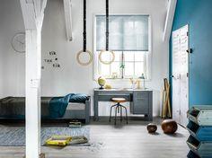KARWEI | De blauwe kleur past perfect bij een mooie jongenskamer, de ringen geven de kamer een extra speelse uitstraling!