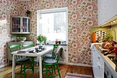 Wallpaper for the #kitchen, yes or no? What do you think?