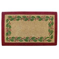 Creative Accents Holly Ivory Tan 22 in. x 36 in. Coir Comfort Mat O2244 at The Home Depot - Mobile