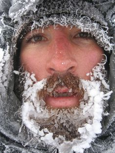 Ice beards are awesome. They're the natural consequence of growing a beard and then playing in the snow. Here's a gallery of 16 awesome frozen beards. Snow And Ice, Beard Tattoo, Winter Is Here, Moustache, People Around The World, Bearded Men, Design Art, The Outsiders, Frozen