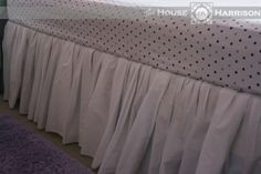 Quick and Easy Bed Skirt {From a Sheet!}  Just the two sides no head or footboard.