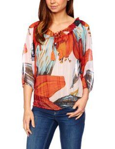 Amazon.com: Desigual Women's Rosas T-Shirts: Clothing