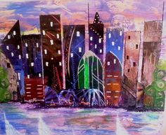 Original Cities Collage by Trudie Moore City Collage, Cityscape, Original Collage, Art Projects, Painting, Collage Art Projects, Conceptual Art, Art, Saatchi Art