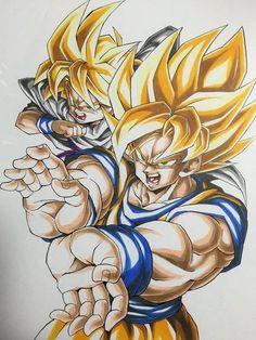 Goku e Gohan Goku Manga, Manga Dragon, Chibi Goku, Dragon Ball Z, Broly Ssj4, Dbz Drawings, Anime Echii, Goku And Gohan, Ball Drawing