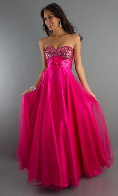 pink bridesmaid dress - so pretty, but would be better if it was shorter.