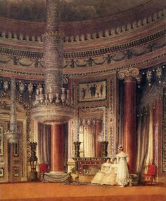 file charles wild the circular dining room carlton house london reservations decor Palaces, Jane Austen, Carlton House, Overmantle Mirror, Google Art Project, Palace Interior, Marble Columns, Royal Residence, Interior Rendering