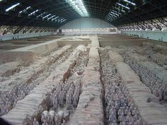 Terracotta soldiers in Xian, China