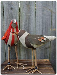 madebykilljoy: Cloth Fabric Birds