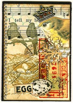ATC A Bird in the Hand ~Traded~ | Flickr - Photo Sharing!