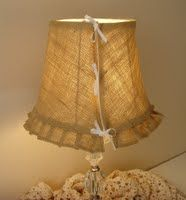 Lampshade slipcover detail...