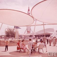 Incredible Disneyland Opening Day pictures shot in Tomorrowland.
