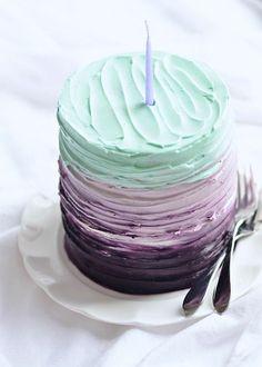 Vanilla blackberry cake