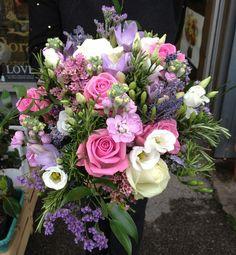 Brides Bouquet Pink and Lilacs.