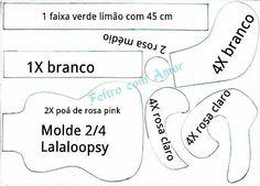 LALALOOPSY FELT PATTERN