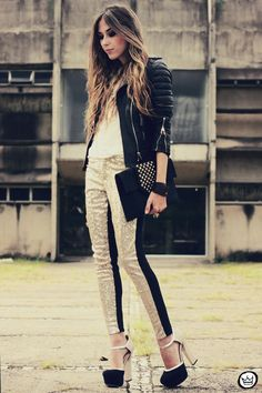 Look du jour: black & gold